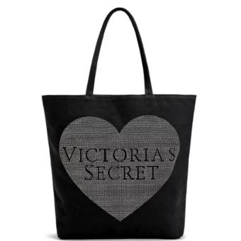 Victoria's Secret Heart Studded Tote Bag (Black) Price Philippines