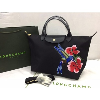 Longchamp Robin Embroidered Medium Tote Bag (Black) Price Philippines