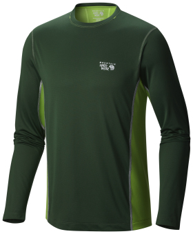 Harga Mountain Hardwear Men's Wicked Lite Long Sleeve T with Wick.Q (Forest)