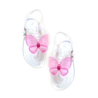 Harga Jelly Nelly Sandals Kids (Clear with Pink Butterfly)