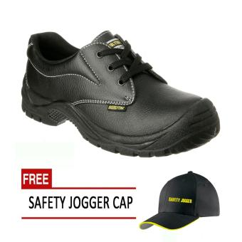 Safety Jogger Safetyrun S1P Low Cut Men Safety Shoes Footwear Steel Toe (Black) with Free Safety Jogger Cap Price Philippines