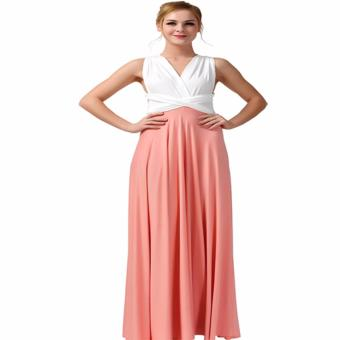 Belle Infinity Maxi Dress (White/Peach) Price Philippines