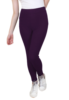 Cotton Republic Shiny Slim Leggings (Raisin) Price Philippines
