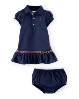 Ralph Lauren Baby Equestrian Dress And Bloomer (Navy Blue) Price Philippines