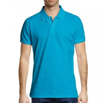 Harga Lifeline Polo Shirt (Aqua Blue)