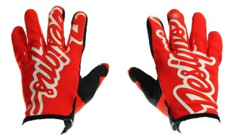 Harga Fortress Motorcycle /Bike Cycling Full Finger Gloves Designs01 (Red/Black)