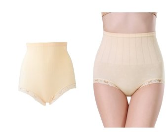 Munafie Seamless Hip Abdomen Fat Burning Waist Slim Panties (Beige) Price Philippines