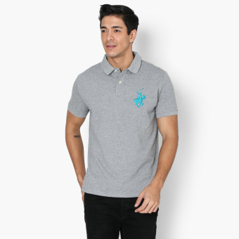 Harga Beverly Hills Polo Club Collar Pop Mens Polo Shirt (Grey)