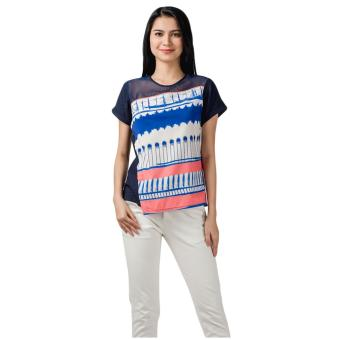 Harga Plains & Prints Maxwell Short Sleeves Top (Multi)