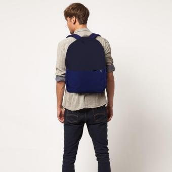 Harga Treeco Canvas Sul Ross Collection Backpack (Navy Blue/Blue)