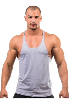 Harga Hengsong Men Fitness Tank Top (Grey)
