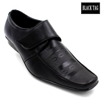 Harga Black Tag Peter Leather Black Shoes for Men (Black)