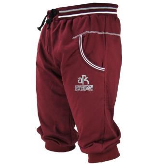 Harga Jogger Pants 3/4 - Baggy Pants Rope Trousers Hiphop Sweatpants (Maroon)
