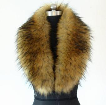 Harga Winter Faux Raccoon Fur Faux Raccoon Fur Scarf Shawl Collar