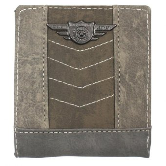 KayGurt V Stitch Earth Tone Wallet (Light Grey/Neutral Green) Price Philippines
