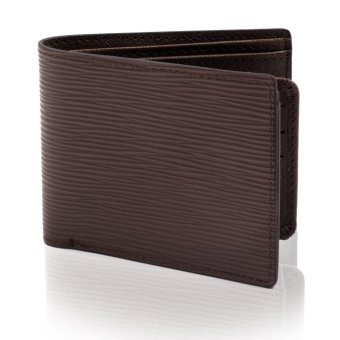 Attraxion Leather Wallet For Men Line Textured Design (Brown) Price Philippines