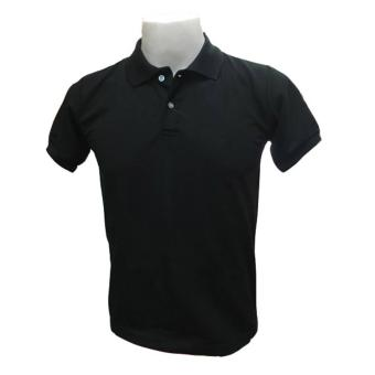Harga JEVANA Plain Black Polo Shirt