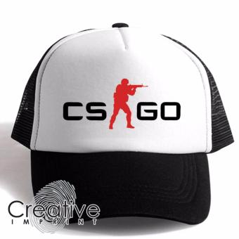 Harga Creative Imprint CS-GO Counter Strike Go Gamer Trucker Net Mesh Unisex Cap (Black White)