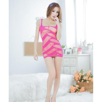 Harga Sexy Lingerie Women Erotic Lingerie Hot Sex Products Sexy Costumes Underwear Slips Intimates Dress(Red) - intl