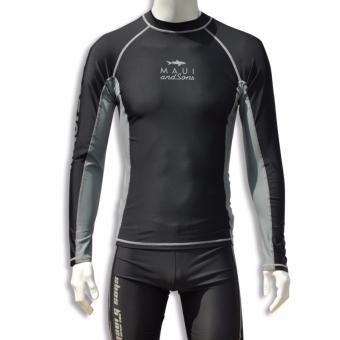 Maui and Sons Rashguards Longsleeves ( Black ) Price Philippines