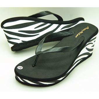 Maxmilan Britney Wedge Slippers (Black) Price Philippines