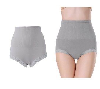 Munafie Seamless Hip Abdomen Fat Burning Waist Slim Panties (Grey) Price Philippines