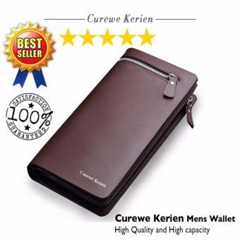 Curewe Kerien men's pu leather wallet - High capacity and High Quality - ( COFFEE BROWN COLOR ) Price Philippines