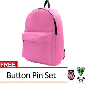 Harga Urban Hikers David Casual Daypack Backpack with Button Pin Set (Pink)