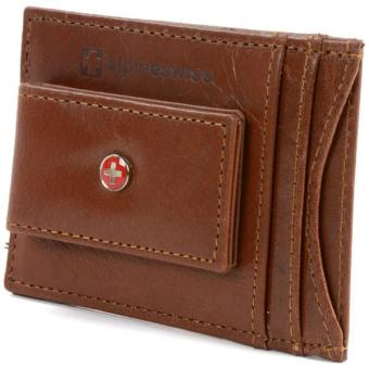 Alpine Swiss Mens Wallet Leather Money Clip Thin Slim Front Pocket Wallet Brown Price Philippines