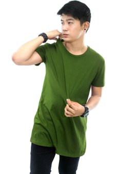 Harga BLKSHP Oversized Softstyle Longline Tee (Solid Lichen)
