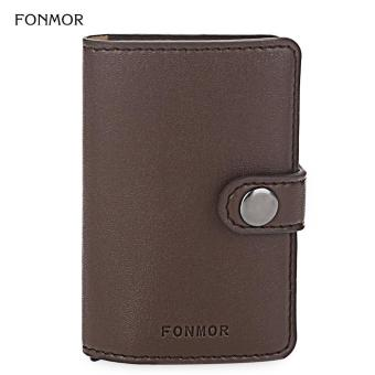 [SANDY BEIGE] FONMOR PU Leather Popping Card Design Card Case for Men - intl Price Philippines
