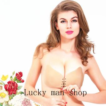 Harga USA TOP ONE lazada and USA best selling AS SEEN ON TV Sexy Silicone Wing Shape Self Adhesive Backless Strapless Invisible Push Up Bra (Skin Tone)