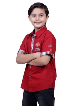 Harga Robby Rabbit Motor Oil Cotton-Woven Polo (Red)