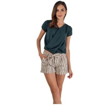 Harga Plains & Prints Jeevi Short Sleeve Top (Green)