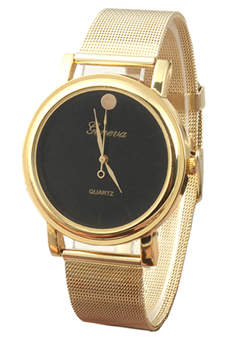 Bluelans Mesh Band Alloy Strap Watch (Gold) Price Philippines