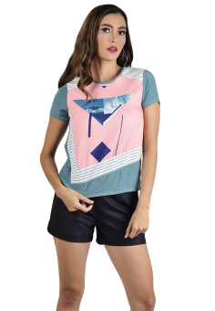 Harga Plains & Prints Hathaway Short Sleeves Top (Multicolor)