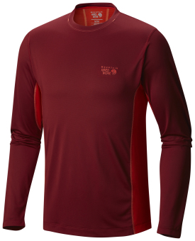 Harga Mountain Hardwear Men's Wicked Lite Long Sleeve T with Wick.Q (Smolder Red)