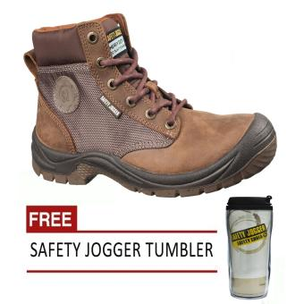 Safety Jogger Dakar Brown S3 High Cut Men Safety Shoes Footwear Steel Toe (Brown) with Free Safety Jogger Tumbler Price Philippines