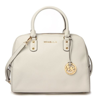 Harga Michael Kors Saffiano Leather Small Satchel (WHITE)
