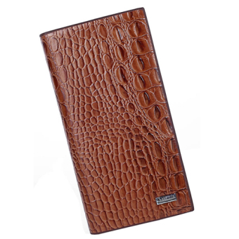 Genuine Crocodile Leather Mens Wallet Cash Clip Card Holder (Brown) Price Philippines