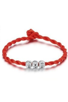 Harga Moonar Women's Bead Rope Bracelet Red