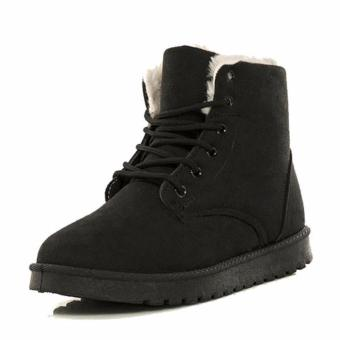 Women Warm Winter Boots in Tube Cotton Footwear Shoes (black) - intl Price Philippines