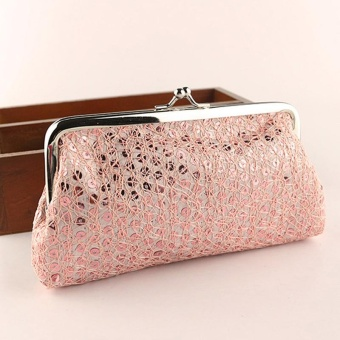 New Women Lovely Style Lady Wallet Hasp Sequins Purse Clutch Bag Pink - intl Price Philippines