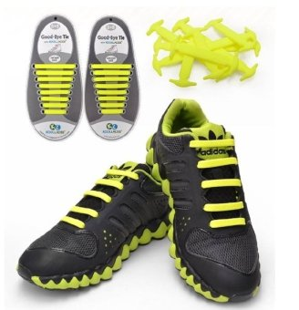 Harga Koollaces No Tie Silicone Laces Yellow