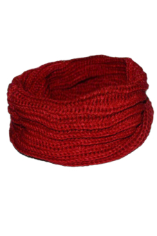 Harga Hanyu Knit Woven Snood Scarf Red