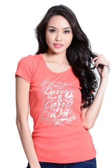 Harga Freego Round Neck Tee (Orange Peel)