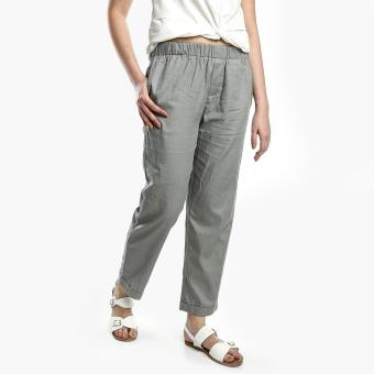 Harga SM Woman Linen Slim Pants (Gray)
