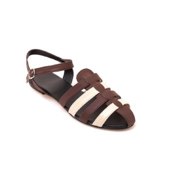 Harga Aloha Woven Sandals Brown/O.White