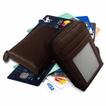 Leather Credit Card Wallet (Brown) Price Philippines