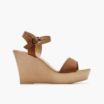 Harga Parisian Ladies Steffi Wedge Sandals (Brown)